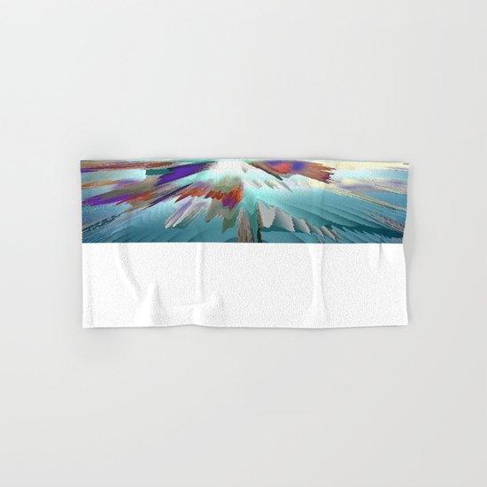 Pow Teal Splash Hand & Bath Towel
