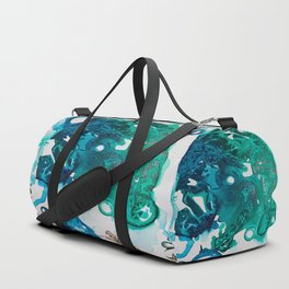 Turtle Exploring the Great Deep Blue Sea Duffle Bag