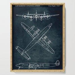 LOCKHEED CONSTELLATION - First flight 1943 Serving Tray
