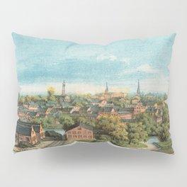 Vintage Pictorial Map of Petersburg VA (1880) Pillow Sham