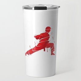 Eat Sleep Karate Repeat Fighter Martial Arts Kendo Taekwando Combat Sports Gift Travel Mug