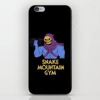 gym iPhone & iPod Skins featuring snake mountain gym by Louis Roskosch