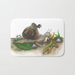 Little Worlds: Snail and Cricket Bath Mat