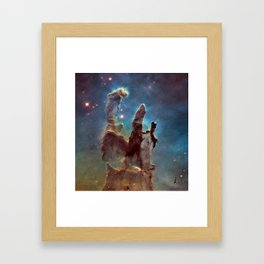 Pillars of Creation- NASA Hubble Telescope Image Framed Art Print