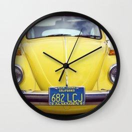 Punchbuggy Yellow Wall Clock