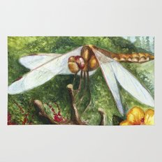 Amber Dragonfly Rug