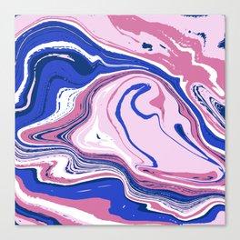 Abstract blue vivid agate slice Canvas Print