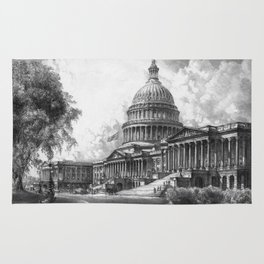 United States Capitol Building Rug