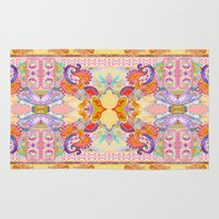 paisley Area & Throw Rugs featuring Paisley  by Jenny Collicott