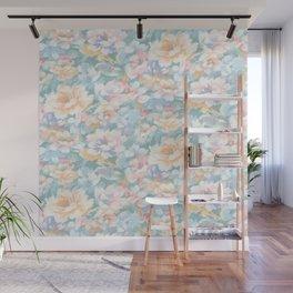 pastel drybrush floral Wall Mural