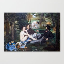 Edouard Manet - Lunch on the Grass Canvas Print