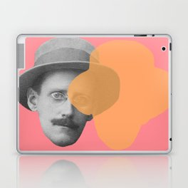 James Joyce - portrait pink and yellow Laptop & iPad Skin