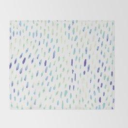 Watercolor Mink - Mint & Sapphire Throw Blanket