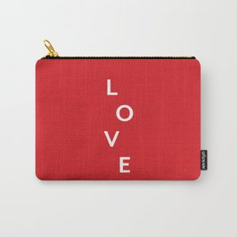 LOVE (red) Carry-All Pouch