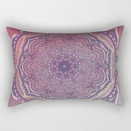 Pink and Blue Mandala Rectangular Pillow