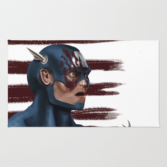 THE FACE COLLECTION - CAPTAIN AMERICA Rug
