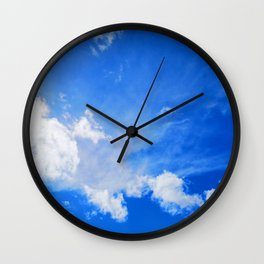 blue cloudy sky std Wall Clock
