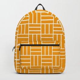 Basketweave (White & Orange Pattern) Backpack