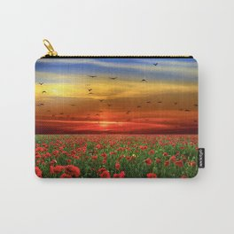 Poppy Fields at Sunrise Photographic Landscape Carry-All Pouch