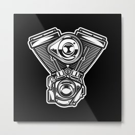 v-rod motorcycle engine harley Metal Print
