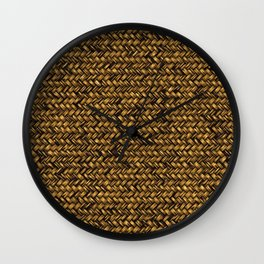 Beautiful HOME - knitted texture patterns Wall Clock