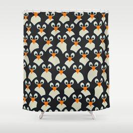 Penguin Pile-Up Shower Curtain