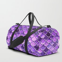 Pantone Ultra Violet Glitter Ombre Mermaid Scales Pattern Duffle Bag
