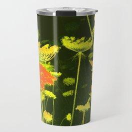 Pretty Wild Carrot Flower Blooming Travel Mug