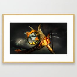 England and St. George Framed Art Print