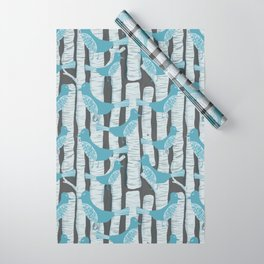 For the Birds and Birch Trees Wrapping Paper