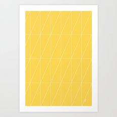 Yellow Triangles by Friztin Art Print