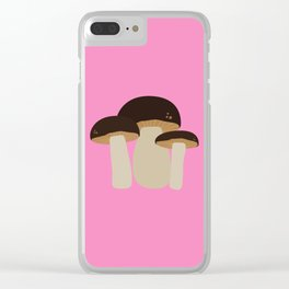 Brown Mushrooms T-Shirt for Women, Men and Kids Clear iPhone Case