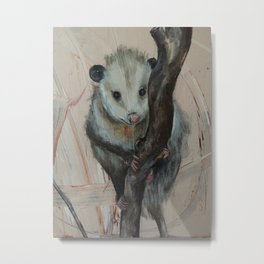 Cute Opossum Metal Print
