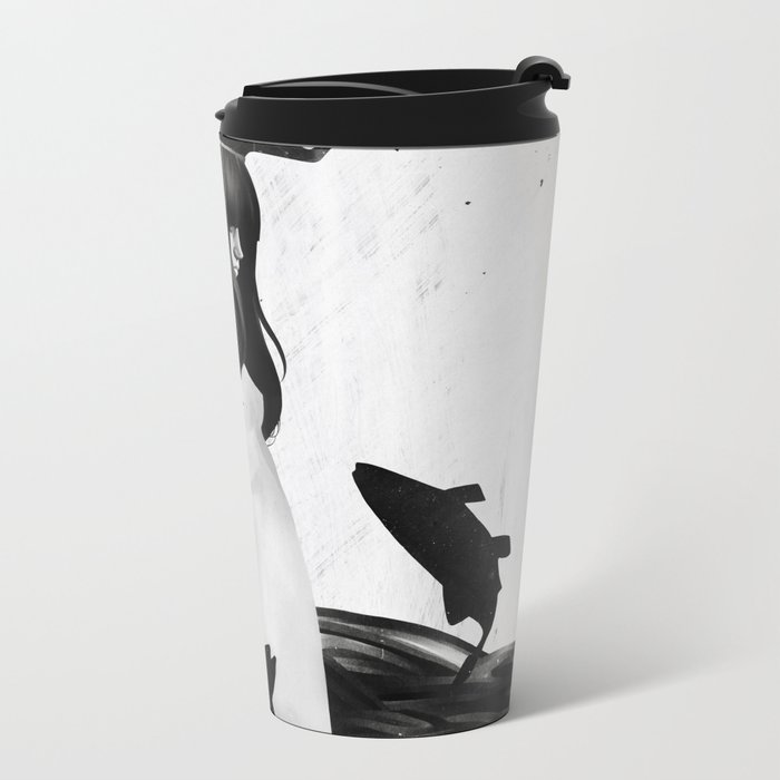 A Mile Away From Anywhere Metal Travel Mug