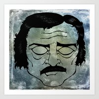 edgar allen poe Art Prints featuring Poe by Art by Ash