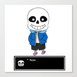 SANS V.1 - UNDERTALE Canvas Print