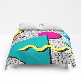 Abstract 1980's Comforters