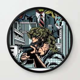 Put The Glasses On Wall Clock