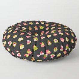 Strawberry Matcha - black Floor Pillow