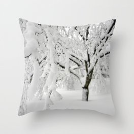 Weeping Ice Tree Throw Pillow