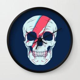 Bowie Skull Wall Clock