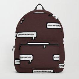 Sempiternal - Maroon Backpack