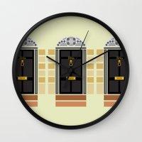 221b Wall Clocks featuring 221b Baker Street Door by Alexandra Baker
