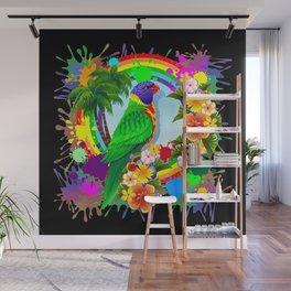 Rainbow Lorikeet Parrot Art Wall Mural