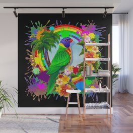 Rainbow Lorikeet Parrot Art Wall Mural