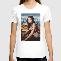 gucci T-shirts featuring GIOCONDA by NOXBIL