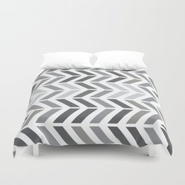 chevron horizontal Duvet Cover