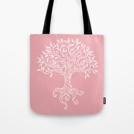 Tree of Life Pink Tote Bag