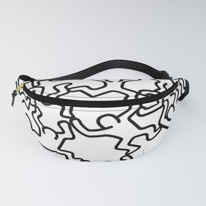Doodles_inspired_to_Keith_Haring_Fanny_Pack_by_lepapale__One_Size__fits_23_to_52_around_