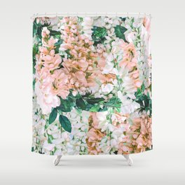 1992 Floral Shower Curtain